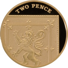 2008 Gold Proof 2p Two Pence Piece Royal Shield