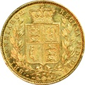 1885 Gold Sovereign - Victoria Young Head Shield Back - M