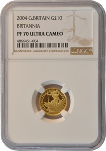 2004 Tenth Ounce Proof Britannia Gold Coin NGC PF70