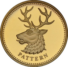 £1 One Pound Gold Proof Coin - Pattern Beast -2004 White Hart