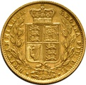 1881 Gold Sovereign - Victoria Young Head - Shield Back - S