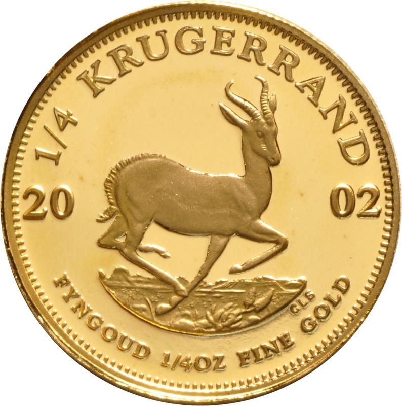 2002 Proof Quarter Ounce Gold Krugerrand