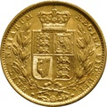 1851 Gold Sovereign - Victoria Young Head Shield Back - London
