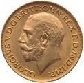 1921 Gold Half Sovereign