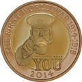 2014 £2 Two Pound Proof Gold Coin 100th Ann. WWI