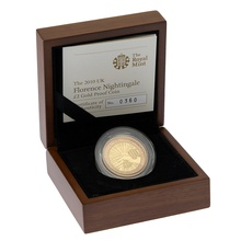 2010 £2 Two Pound Proof Gold Coin: Florence Nightingale Boxed