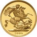 2004 Gold Sovereign - Elizabeth II Fourth Head Proof