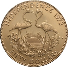 Bahamas 1973 Independence 50 dollar