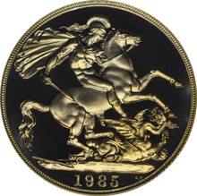 1985 £2 Two Pound Proof Gold Coin (Double Sovereign)