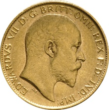 1906 Gold Half Sovereign - King Edward VII - London