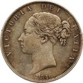 1881 Victoria Young Head Silver Half Crown