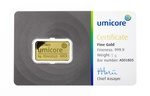 Umicore 5 Gram Gold Bar