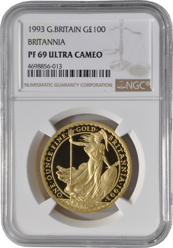 1993 One Ounce Proof Britannia Gold Coin NGC PF69