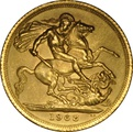 1968 Gold Sovereign - Elizabeth II Young Head