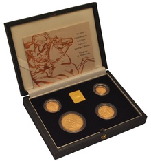 2000 Gold Proof Sovereign Four Coin Set Boxed