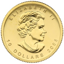 2008 Quarter Ounce Gold Canadian Maple