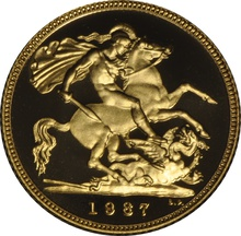 1987 Gold Half Sovereign Elizabeth II Third Head Proof