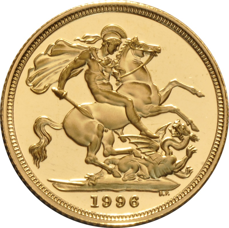 1996 Gold Sovereign - Elizabeth II Third Head Proof