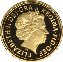 2008 Gold Half Sovereign Elizabeth II Fourth Head Proof