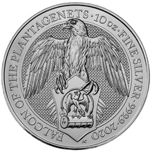 2020 10oz Silver The Falcon of the Plantagenets - Queen's Beast Coin