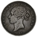 1843 Queen Victoria Silver Milled Halfcrown