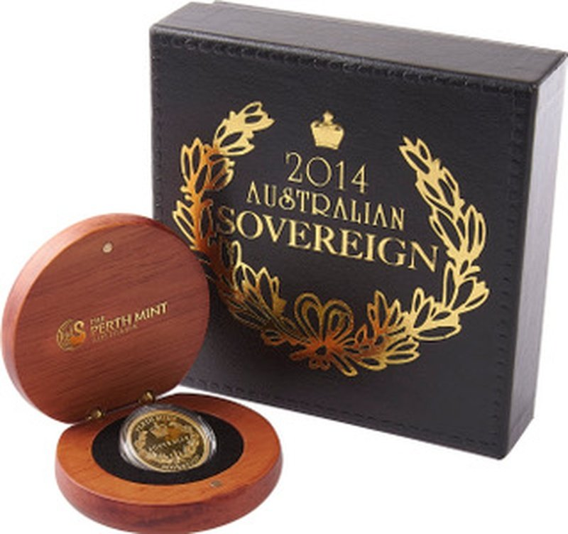 2014 Australian Gold Proof Sovereign Boxed