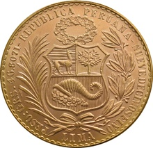 Peruvian 100 Soles - Liberty Seated