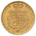 1885 Half Sovereign Victoria Young Head Shield Back - London