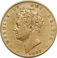Half Sovereign George IV Bare Head - 1826 - 1828