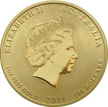 2011 1oz Gold Australian Lunar Year of the Rabbit