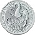 1oz Platinum Coin, The Red Dragon - Queen's Beast