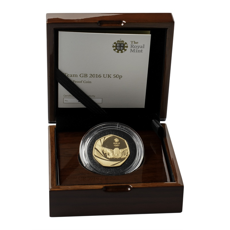 Gold Proof 2016 Fifty Pence Team GB Boxed