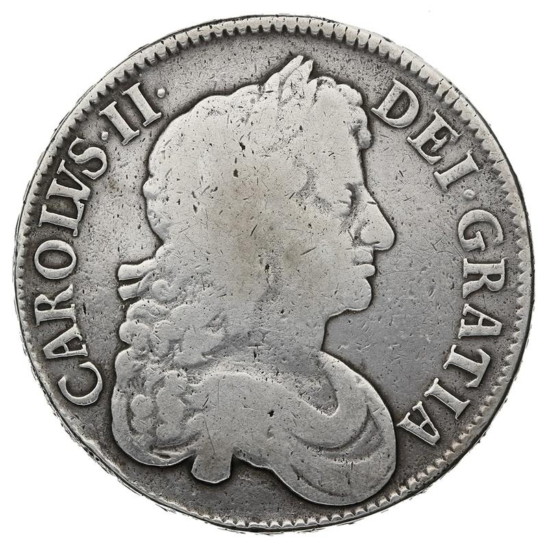"1677 Charles II Silver Crown ""V.NONO"""