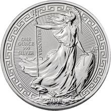 2018 1oz Silver Britannia (Oriental Border) Coin
