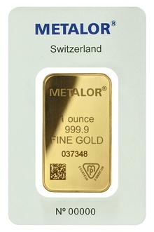 Metalor 1oz Gold Bar
