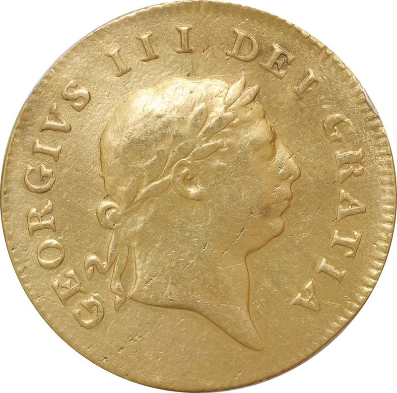 1809 George III Half Guinea - Very Fine
