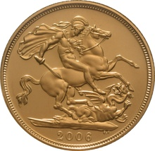 2006 Gold Sovereign - Elizabeth II Fourth Head Proof