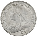 1893 Queen Victoria Silver Halfcrown - About Uncirculated