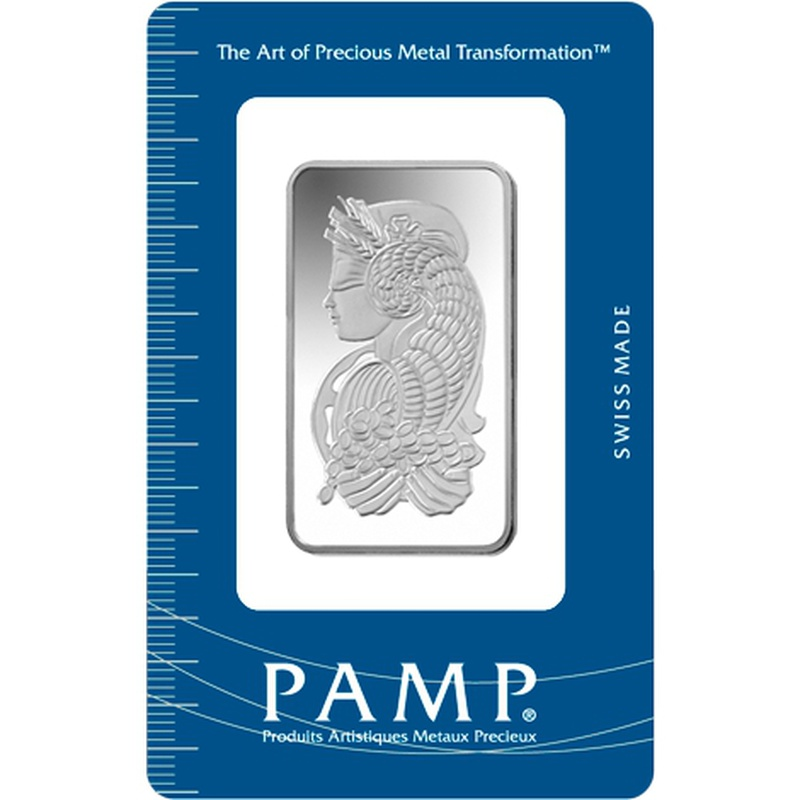 PAMP 1oz Silver Bar Minted