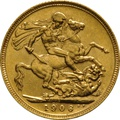 1906 Gold Sovereign - King Edward VII - S