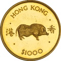 $1000 Hong Kong 1983 Year of the Pig