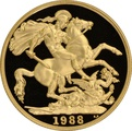 1988 £2 Two Pound Proof Gold Coin (Double Sovereign)