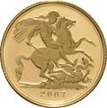 2007 Gold Sovereign - Elizabeth II Fourth Head Proof