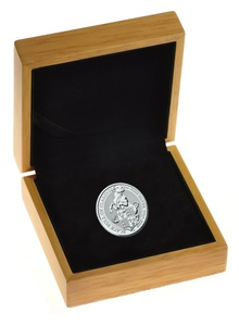 2oz Silver Coin, Black Bull of Clarence - Queen's Beast 2018 Gift Boxed