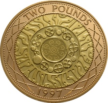 1997 £2 Two Pound Proof Gold Coin (Double Sovereign)