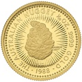 1988 Proof Tenth Ounce Gold Australian Nugget