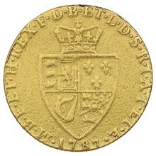 1787 George III Gold Guinea - Very Good