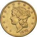 1876 $20 Double Eagle Liberty Head Gold Coin,  San Francisco