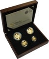 2011 Proof Britannia Gold 4-Coin Set Boxed