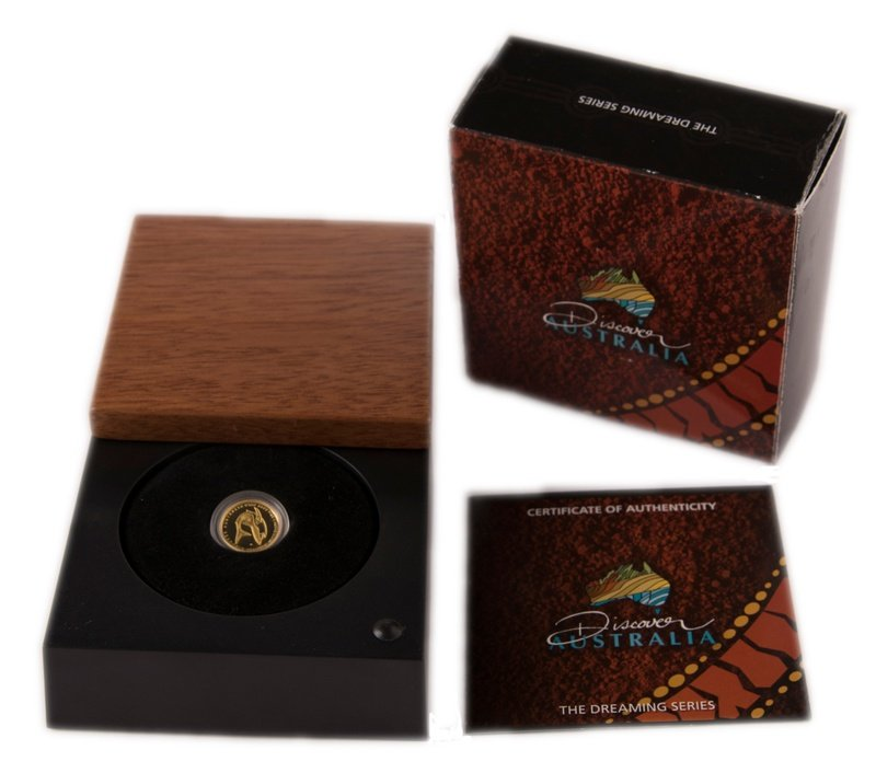 2011 Great White Shark Twenty-Fifth Ounce Gold Proof Coin Boxed